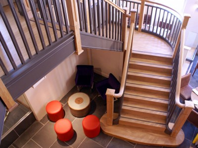 Stair Treads Created Using Hardwood Oak Board