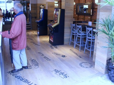 Hardwood Oak Flooring Installed At Wetherspoons